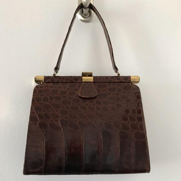 Sterling USA Bags   Vintage Alligator Kelly Bag With Brass Hardware ... 43116d560d
